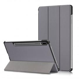 Tri-Fold Book Case Samsung Galaxy Tab S7 Hoesje - Grijs