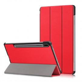Tri-Fold Book Case Samsung Galaxy Tab S7 Hoesje - Rood