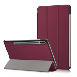 Tri-Fold Book Case Samsung Galaxy Tab S7 Hoesje - Bordeaux