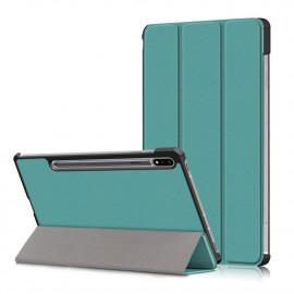 Tri-Fold Book Case Samsung Galaxy Tab S7 Hoesje - Groen