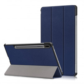 Tri-Fold Book Case Samsung Galaxy Tab S7 Hoesje - Donkerblauw