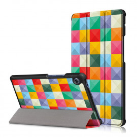 Tri-Fold Book Case Huawei MatePad T8 Hoesje - Colour Squares
