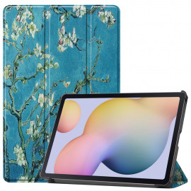 Tri-Fold Book Case Samsung Galaxy Tab S7 Hoesje - Bloesem