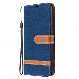 Denim Book Case Samsung Galaxy A31 Hoesje - Blauw