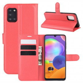 Book Case Samsung Galaxy A31 Hoesje - Rood