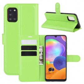 Book Case Samsung Galaxy A31 Hoesje - Groen