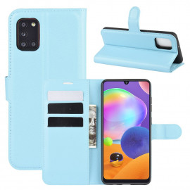 Book Case Samsung Galaxy A31 Hoesje - Lichtblauw