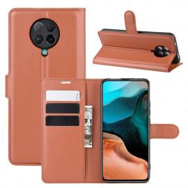 Book Case Xiaomi Poco F2 Pro Hoesje - Bruin
