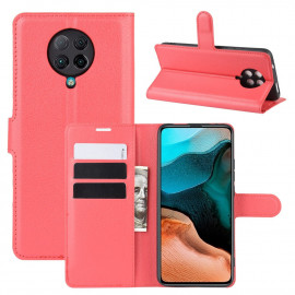 Book Case Xiaomi Poco F2 Pro Hoesje - Rood