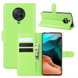 Book Case Xiaomi Poco F2 Pro Hoesje - Groen