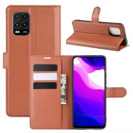 Book Case Xiaomi Mi 10 Lite 5G Hoesje - Bruin