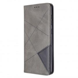 Geometric Book Case Samsung Galaxy A31 Hoesje - Grijs