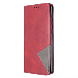 Geometric Book Case Samsung Galaxy A31 Hoesje - Rood