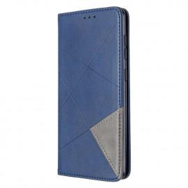 Geometric Book Case Samsung Galaxy A31 Hoesje - Blauw