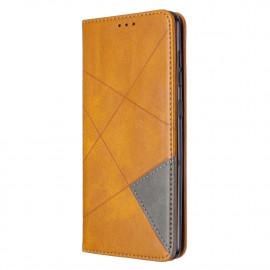 Geometric Book Case Samsung Galaxy A31 Hoesje - Bruin