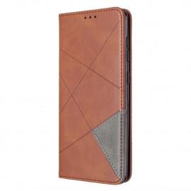 Geometric Book Case Samsung Galaxy A31 Hoesje - Donkerbruin