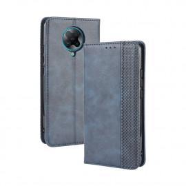 Vintage Book Case Xiaomi Poco F2 Pro Hoesje - Blauw