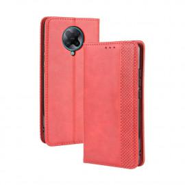 Vintage Book Case Xiaomi Poco F2 Pro Hoesje - Rood