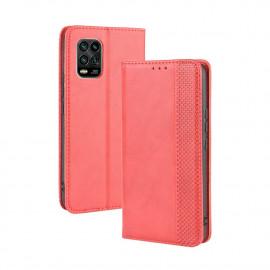 Vintage Book Case Xiaomi Mi 10 Lite 5G Hoesje - Rood