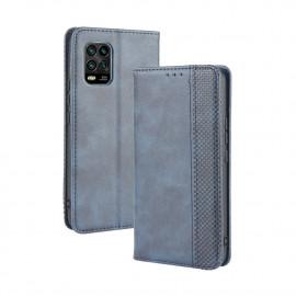 Vintage Book Case Xiaomi Mi 10 Lite 5G Hoesje - Blauw