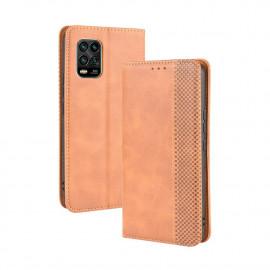 Vintage Book Case Xiaomi Mi 10 Lite 5G Hoesje - Bruin