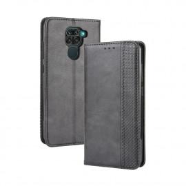 Vintage Book Case Xiaomi Redmi Note 9 Hoesje - Zwart