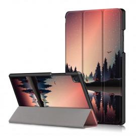 Tri-Fold Book Case Samsung Galaxy Tab A7 Hoesje - Dusk