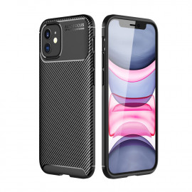 Carbon Fiber TPU Case iPhone 12 Hoesje - Zwart