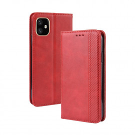 Vintage Book Case iPhone 12 Mini Hoesje - Rood