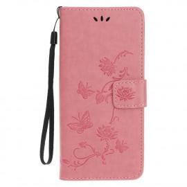 Bloemen Book Case iPhone 12 Hoesje - Pink
