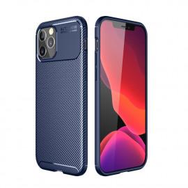 Carbon Fiber TPU Case iPhone 12 Pro Hoesje - Blauw