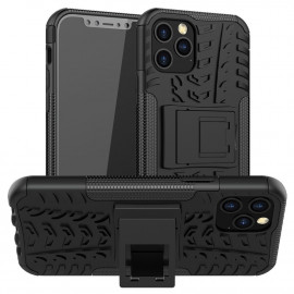 Rugged Kickstand iPhone 12 / 12 Pro Hoesje - Zwart