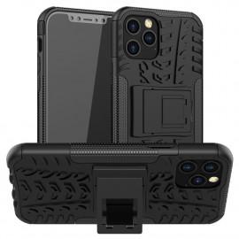 Rugged Kickstand iPhone 12 / 12 Pro Hoesje - Zwart