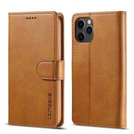 Luxe Book Case iPhone 12 Hoesje - Bruin