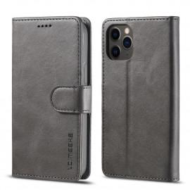 Luxe Book Case iPhone 12 Pro Hoesje - Grijs