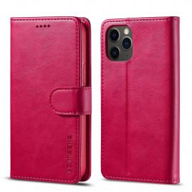 Luxe Book Case iPhone 12 Pro Hoesje - Roze