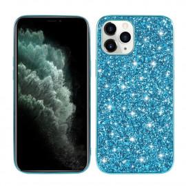 Glitter TPU iPhone 12 Mini Hoesje - Blauw