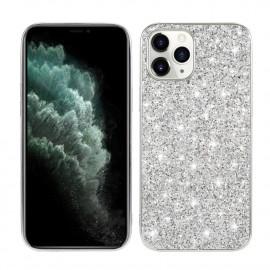 Glitter TPU iPhone 12 Mini Hoesje - Zilver