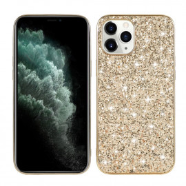 Glitter TPU iPhone 12 Mini Hoesje - Goud