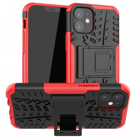 Rugged Kickstand iPhone 12 Mini Hoesje - Rood