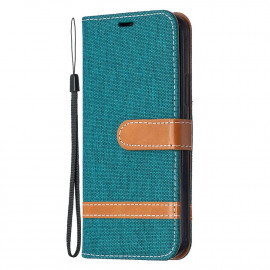 Denim Book Case iPhone 12 / 12 Pro Hoesje - Groen