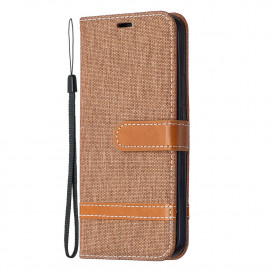 Denim Book Case iPhone 12 / 12 Pro Hoesje - Bruin