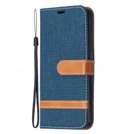 Denim Book Case iPhone 12 / 12 Pro Hoesje - Blauw