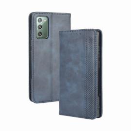 Vintage Book Case Samsung Galaxy S20 FE Hoesje - Blauw