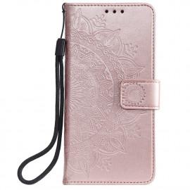 Bloemen Book Case Samsung Galaxy S20 FE Hoesje - Rose Gold