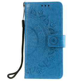 Bloemen Book Case Samsung Galaxy S20 FE Hoesje - Blauw