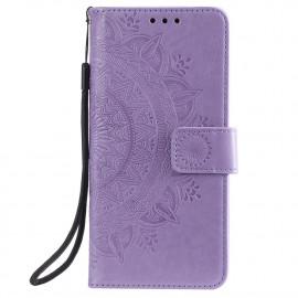 Bloemen Book Case Samsung Galaxy S20 FE Hoesje - Paars