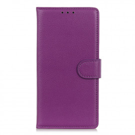 Book Case Motorola Moto G9 Play Hoesje - Paars