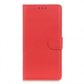 Book Case Motorola Moto G9 Plus Hoesje - Rood