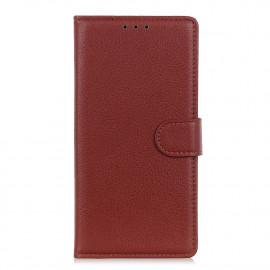 Book Case Motorola Moto G9 Plus Hoesje - Bruin